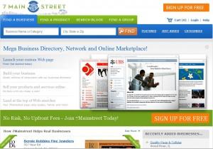 7Mainstreet Homepage Screenshot