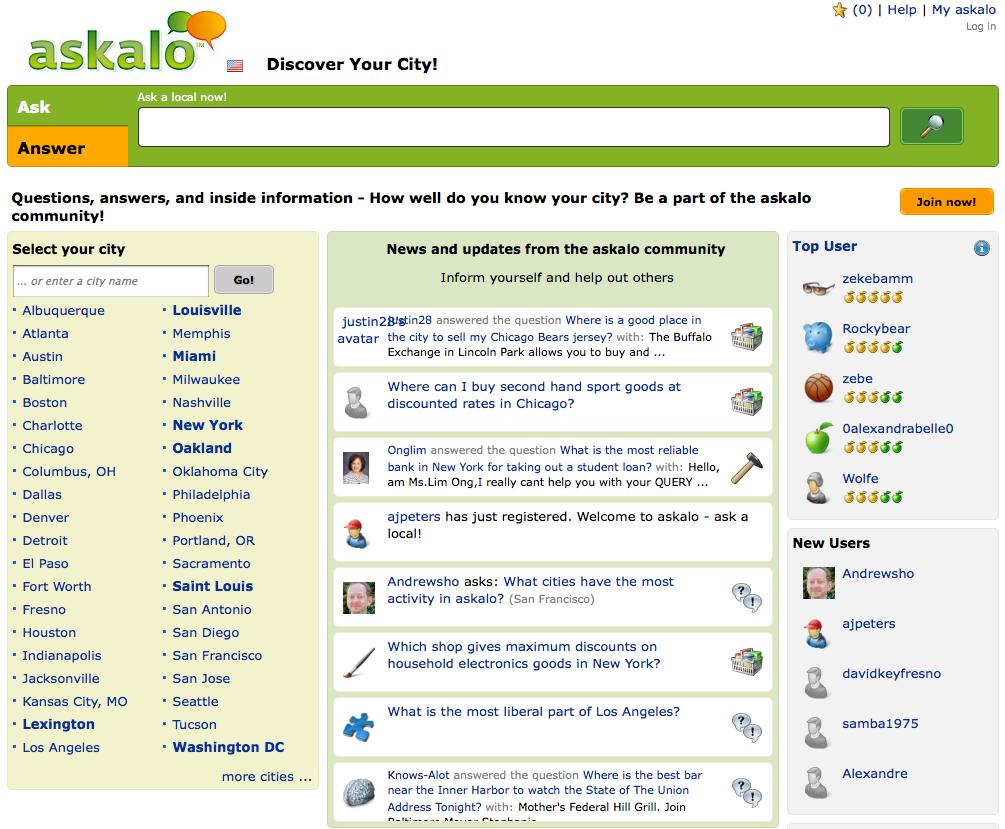 asakalo.com home page
